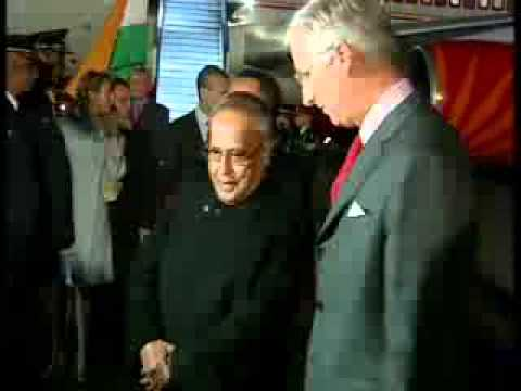 President Pranab Mukherjee reaches Belgium; becomes first Indian president to visit the country
