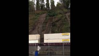 Landslide derails train in Washington