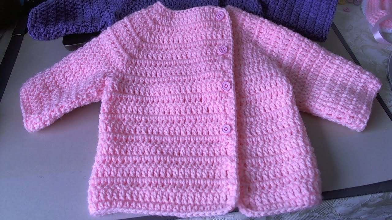 Crochet Baby Sweater : Easy Crochet Baby Sweater - Asian inspired sweater / tambien en ...