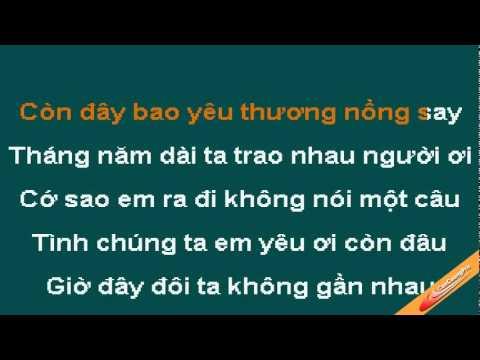 Mong Em Quay Tro Ve Karaoke - Khang Bao Hung - CaoCuongPro