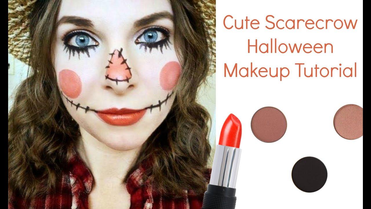 Cute Scarecrow Halloween Makeup Tutorial  YouTube - Cute Halloween Makeup Tutorial