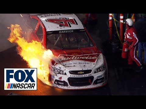 Kevin Harvick Crash @ 2014 Food City 500