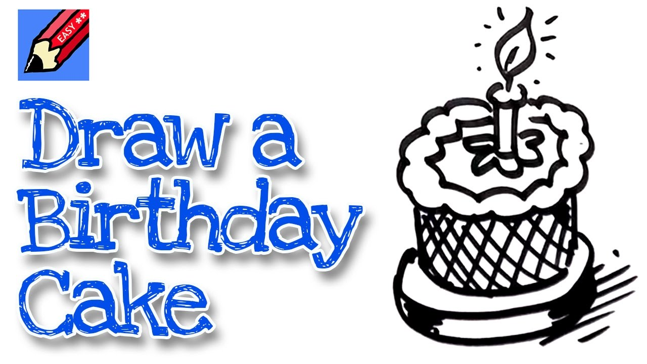How To Draw A Realistic Birthday Cake