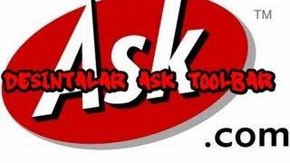 Como Desinstalar Ask Toolbar Y Otros Programas