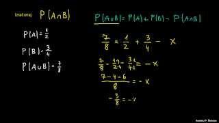 Verjetnost 24 – računanje z dogodki 2