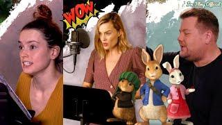 Peter Rabbit Voice B-Roll & Behind the Scenes(BTS)   Margot Robbie & Daisy Ridley