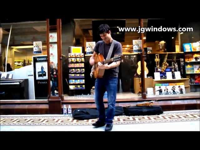 "Seth Lakeman performs ""Solomon Browne"" outside of JG Windows Newcastle"