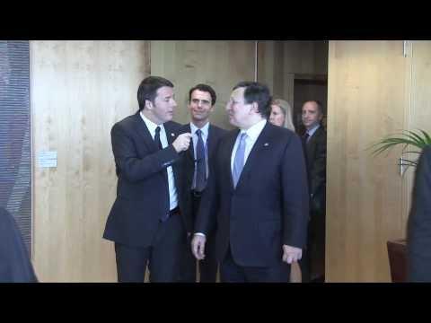 Bruxelles, Renzi incontra Barroso (20/03/2014)