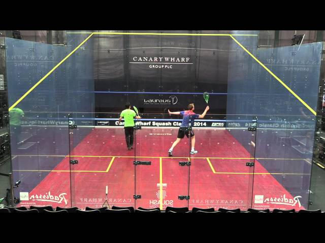 Squash: James Willstrop & Miguel Rodriguez Training Canary Wharf
