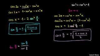 Kotne funkcije polovičnih kotov