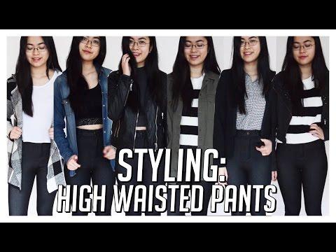 How I Style // High-Waisted Jeans/Pants /Disco Pants ♡ 6 Monochrome Outfit Ideas