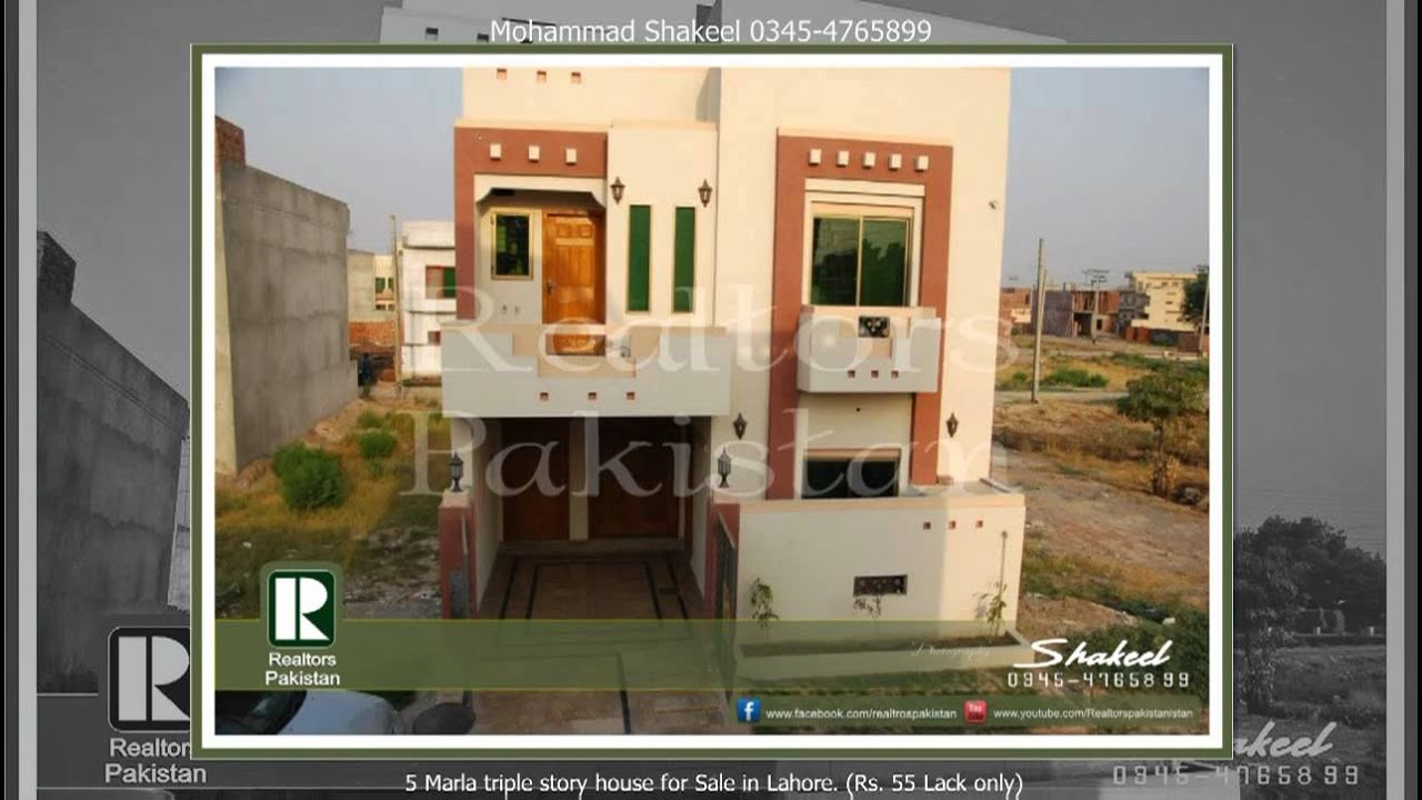 5 Marla Triple Story House For Sale In Lahore Rs 55 Lack