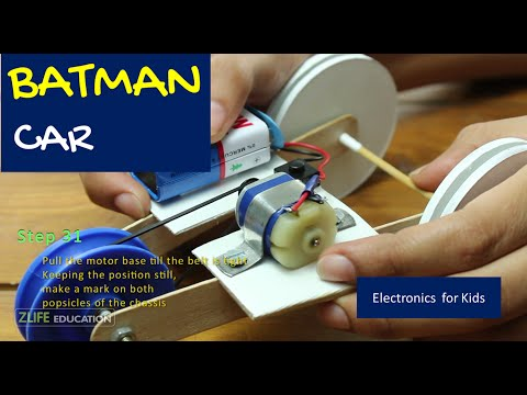 Batman Car - Electronics Activity for Kids