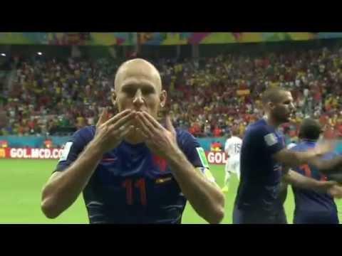 Segundo gol de Arjen Robben sobre a espanha / 2 goal Arjen Robben
