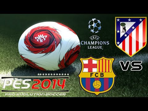 PES 2014 UEFA Champions League FC Barcelona vs Atlético Madrid exibition match