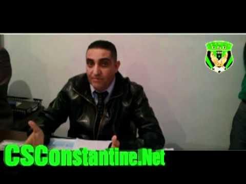 CS Constantine : Résumé de la conférence de presse du 21/11/2011