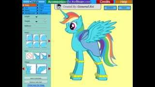 [Flash Game]Create A Rainbow Dash Alicorn!!