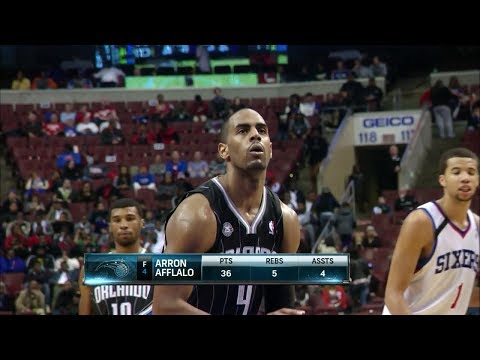 Arron Afflalo Full Highlights at 76ers (2013.12.03) - 43 Points, Career-High