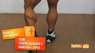 Treino de panturrilha com Luizão Bliujus e Vanessa Lopes