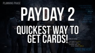 Payday 2 How To Get A Card In 20 Seconds!! (Masks, Mods