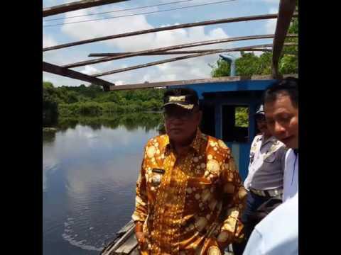Bupati Kubu Raya Rusman Ali meninjau kegiatan dan proses Pembangunan