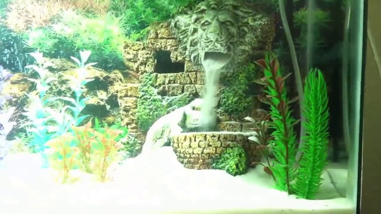 Underwater waterfall white sand betta tank d youtube for Aquarium waterfall decoration