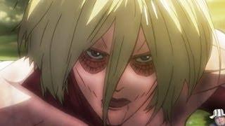 Attack on Titan (Shingeki No Kyojin) Episode 17 Reaction & Review -- The Female Titan 進撃の巨人