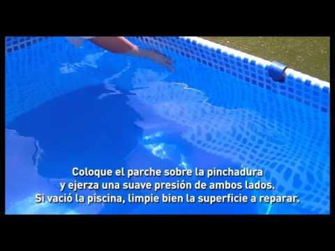 Kit de reparaci n de piscinas pelopincho youtube for Parches para piscinas