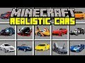 Minecraft REALISTIC CAR MOD BUILD AND DRIVE REAL SUPERCARS Modded Mini Game