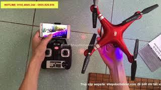 [Mở hộp & Test ]Máy bay điều khiển từ xa SHRC fly cam full HD 1080 giá rẻ SH5HD