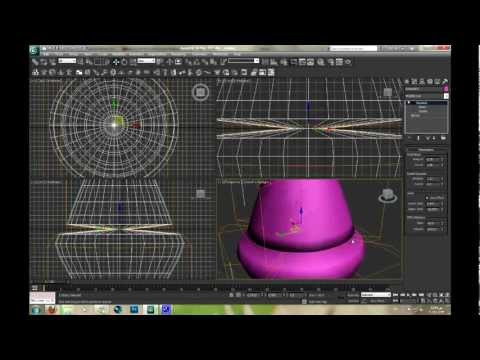 3D Modeling using 3ds max - Lesson 7 Modifiers: Squeeze-Taper-Twist-Wave-Cap Holes-Mirror
