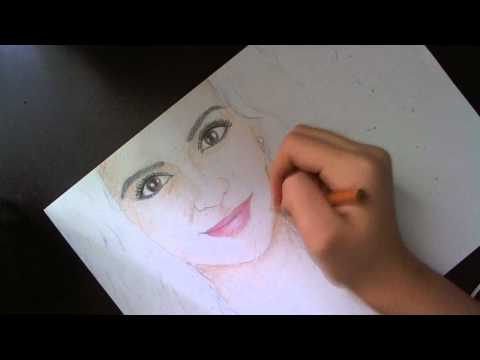 Drawing MACBARBIE07 !! (Bethany) Colored pencil portrait
