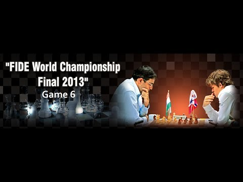 Game 6 - Viswanathan Anand vs Magnus Carlsen | FIDE World Chess Champion