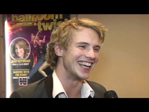 Freddie Stroma and Jesus Solorio on the Red Carpet at Ballroom with a Twist
