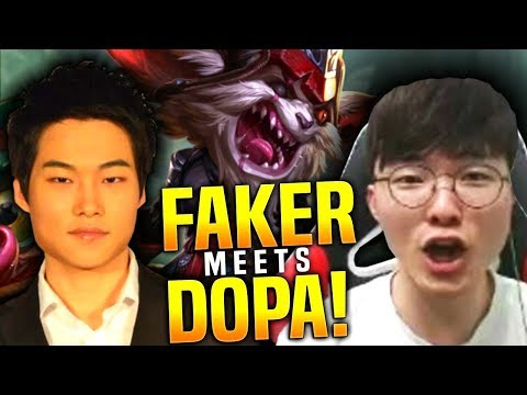 When Faker Meets Dopa in Korea SoloQ | Faker Kled - Dopa Twisted Fate - Peanut Camille - Pray Ezreal