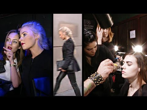 Backstage @ NEW YORK FASHION WEEK!
