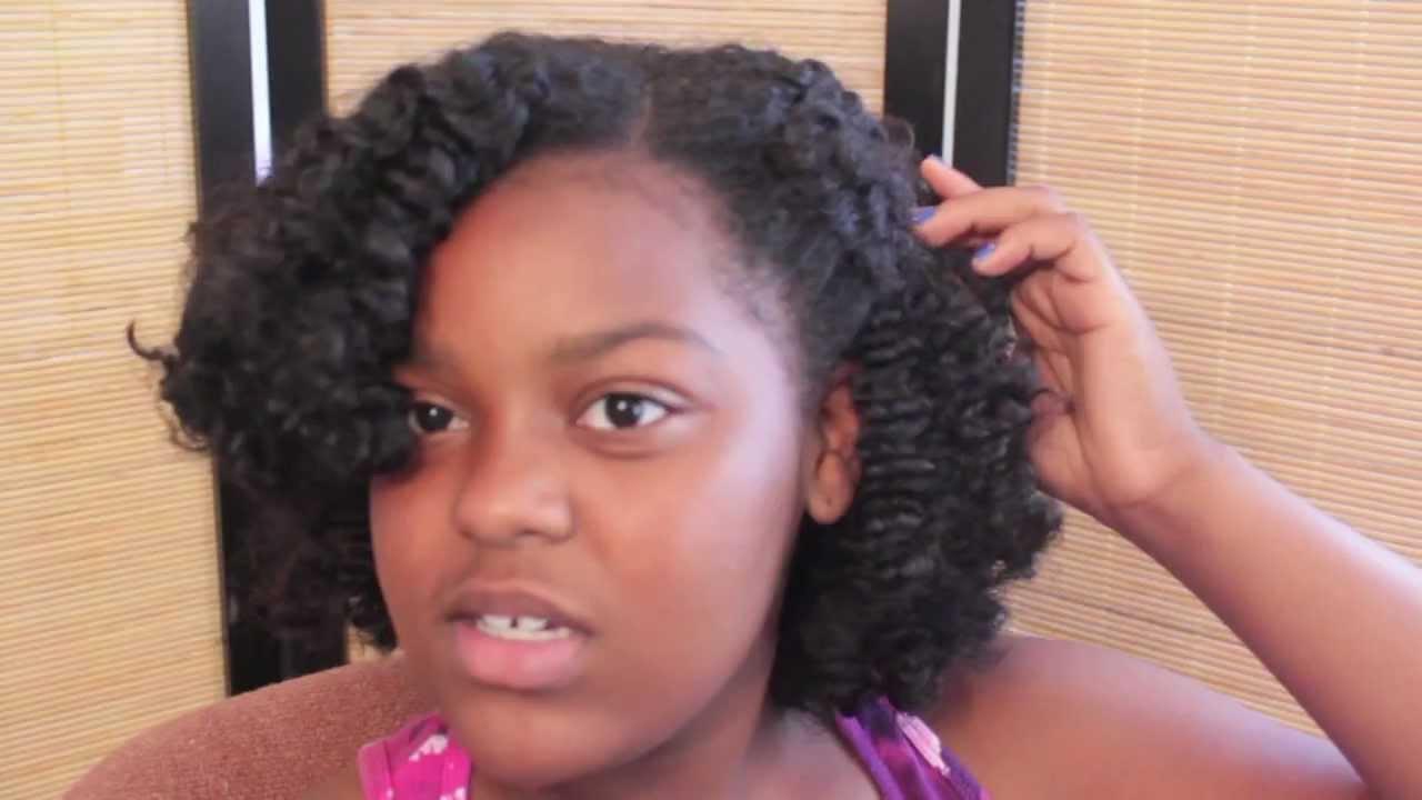 Natural Hair: Braid Out Tutorial - YouTube