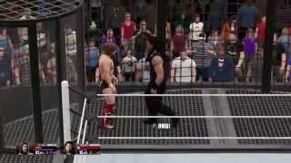 WWE 2K15 PS4 Elimination Chamber Spear OMG MOMENT
