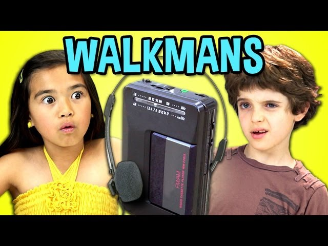 play video: KIDS REACT |TO WALKMANS