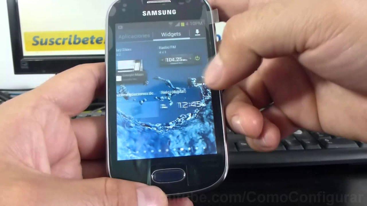 Como Instalar Widgets De Samsung Galaxy Fame S6810 Espa Ol