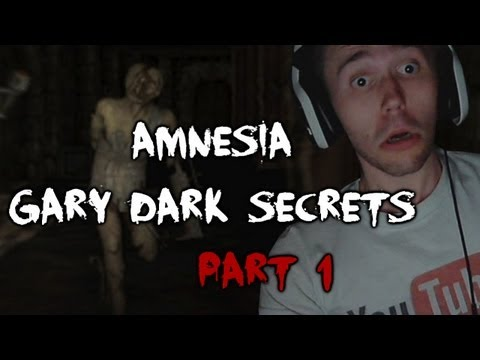 Scary Games - Amnesia Gary Dark Secrets Walkthrough Part 1 w/ Reactions & Facecam