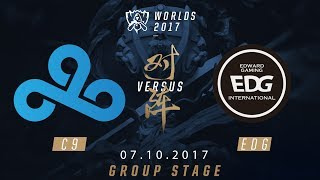 [07.10.2017] C9 vs EDG [Group Stage][CKTG2017][Bảng A]