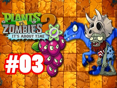 Hoa qua noi gian 2 - Game Plants Vs. Zombies 2 - Jurassic Marsh Day 3