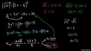 Reševanje enačb s korenom – primer