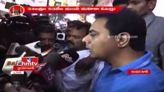 GHMC polls: IT Minister KTR casts his vote in Banjara Hills