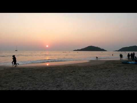 Sunset At Palolem Beach Goa (HD)