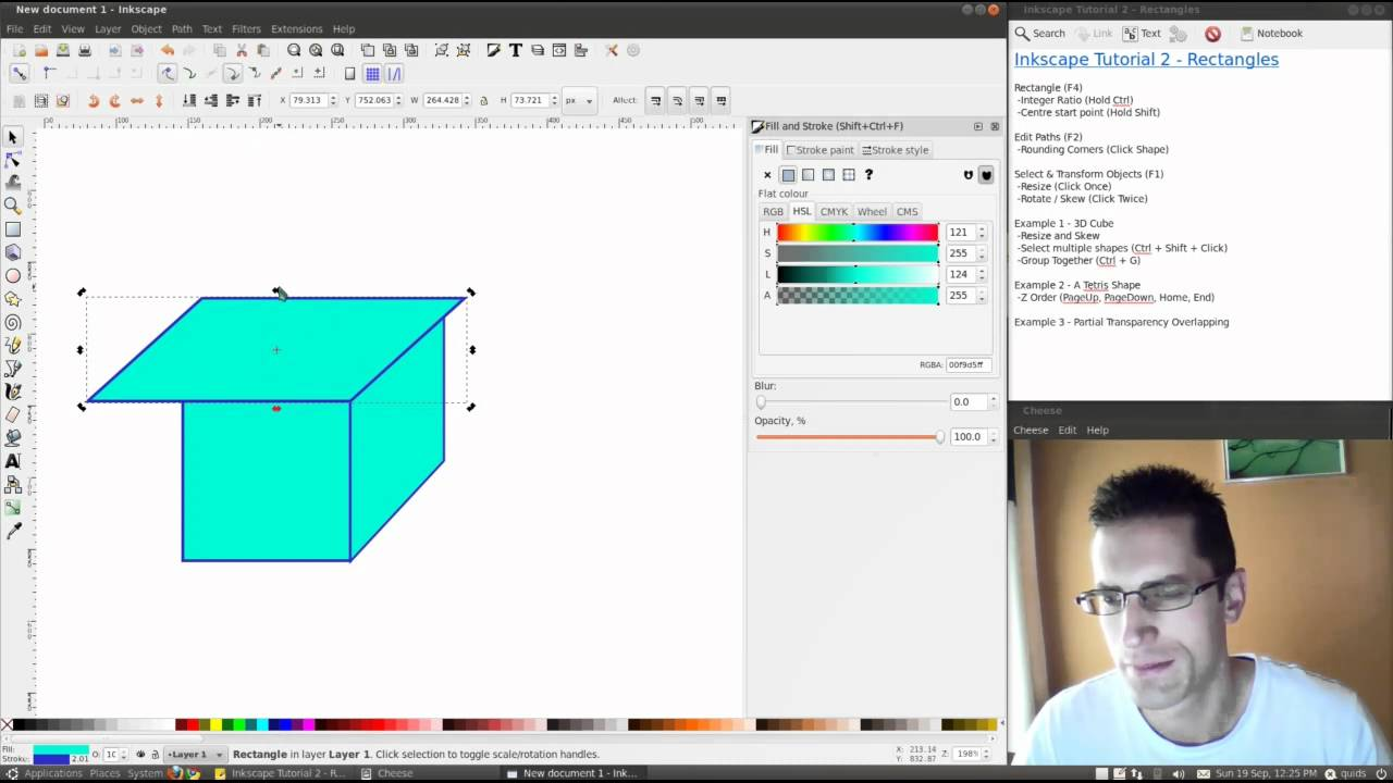 how to create the inverse of a shape inkscape
