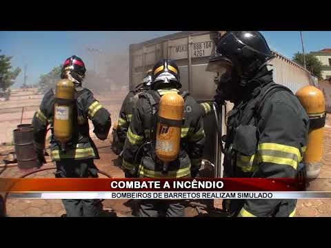 01/02/2019 - Dia de treinamento!!! Bombeiros de Barretos realizam simulado de combate a incêndio em edificação