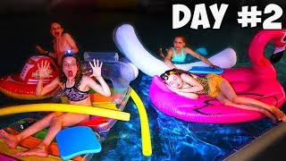 LAST TO FALL IN THE POOL WINS $1000 *Kids Version of Mr Beast Challenge