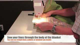 How To Sew A Blanket Or Quilt With Two Sheets And Some Batting